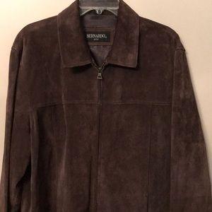 💥Like new, mens Suede dark brown jacket.